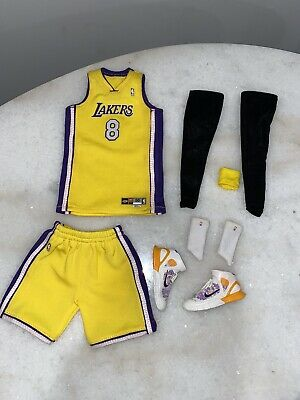 """$120 • Buy 1/6 Custom Lakers Kobe Bryant """"62 Points Game"""" Jersey Set And Shoes For ENTERBAY"""