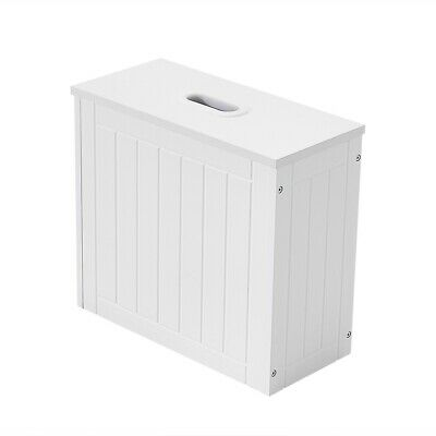 £14.99 • Buy Bathroom Toilet Paper Cleaning Storage Cabinet Tidy Box Slimline Wooden Painted