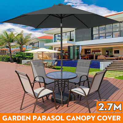Replacement Fabric Garden Parasol Canopy Cover Waterproof Protector 2.7m 6 Arm • 25.08£