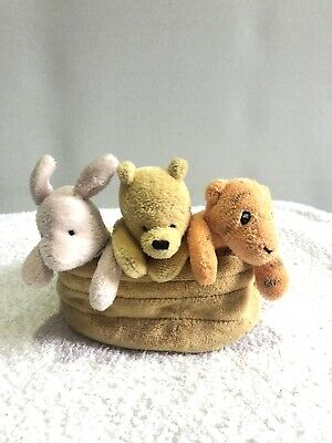 Classic Winnie The Pooh Hand/ Finger Puppets / Pooh Basket 44854 • 19.99£