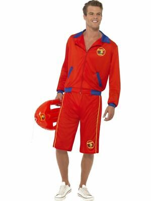 £32.65 • Buy Mens Baywatch Lifeguard Sports Uniform Fancy Dress 90S Tv Stag Party Costume Med
