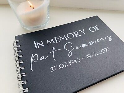 £9.49 • Buy A5 Luxury Black Memory Condolence Book For Funeral Celebration Of Life Memorial