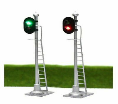 00 Model Railway Red Green 2 Aspect Light Signal 12 VOLT DC OO GAUGE Pre Wired • 8.75£