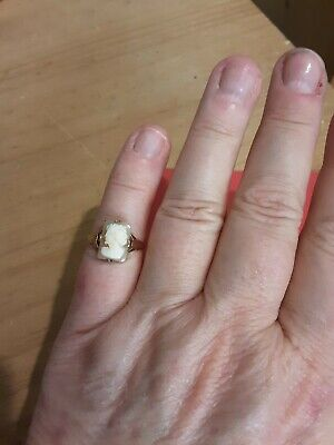 £60 • Buy Vintage 9ct Yellow Gold Cameo Ring