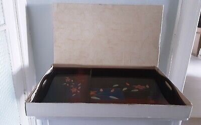 Kainan Lacquer Ware Serving Trays 2 Pieces Made In Japan In Original Box • 20£