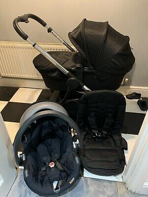 ICandy Lime Travel System Black Pram Pushchair Bundle • 399.99£