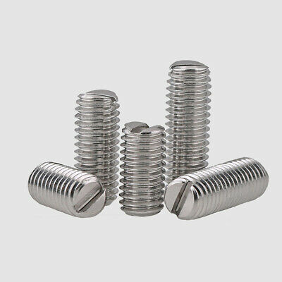 $2.09 • Buy M3-M10 Slotted Drive Flat Point Grub Set Screws-304 Stainless Steel
