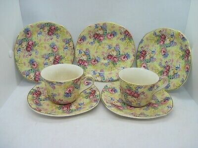 $ CDN35.38 • Buy Royal Winton Grimwades Welbeck Chintz 2 Cups And Saucers Plus 3 Saucers