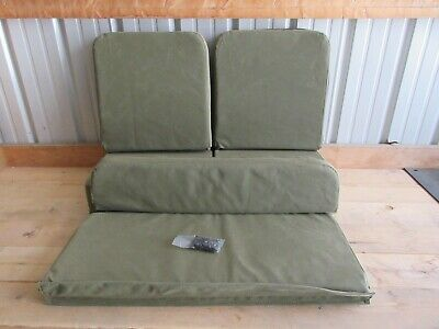 $385 • Buy Full Set Of Replacement Canvas Seat Covers With Foam Fits Jeep Willys M38 M38A1