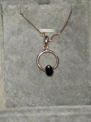 £20 • Buy 925 Solid Silver And Whitby Jet Necklace Hallmarked And Gift Boxed