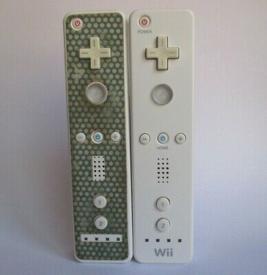 $ CDN36.84 • Buy Lot Of 2 Nintendo Wii Remote White Controllers Official OEM RVL-003