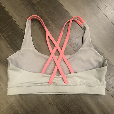 $ CDN51.55 • Buy Lululemon Energy Bra 12 Silver Spoon Light Flare Gray Coral Sportsbra Sports