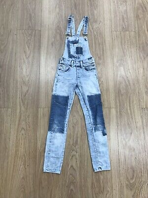 Girls Dungarees Age 6-7 Years 134-140cm Coolcat Skinny Blue JG210 • 7.99£