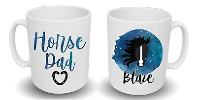Spoilt Rotten Pets Horse Dad Pony Lover Custom Design Printed Gift Mug Pet • 11.79£