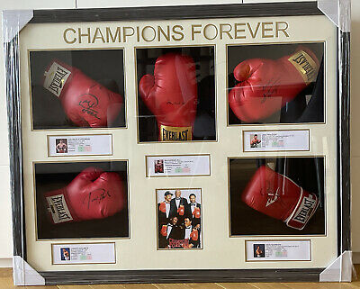 AU7000 • Buy Authentic Signed Boxing Champions Forever Ali, Frazier, Norton, Foreman & Holmes