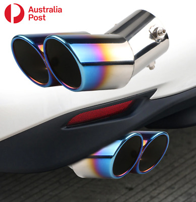 AU26.99 • Buy Car Exhaust Tip S'Steel Auto Rear Tail Muffler Pipe For 1.5-2.2L W/ Straight Tip