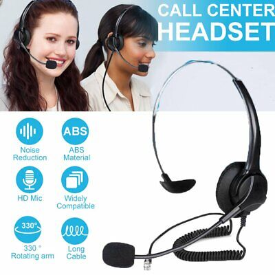 AU21.56 • Buy AU Call Center Headphones With Mic Headset Wired Earphone For Computer PC Gaming