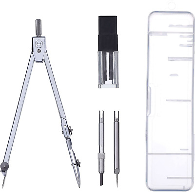 £6.31 • Buy Boxed Technical Precision Drawing School Compass 5 Piece Set Stainless Steel UK