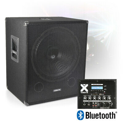 £209 • Buy 18  Bi-Amplified Active Powered Subwoofer DJ PA Speaker With Bluetooth USB 1000w