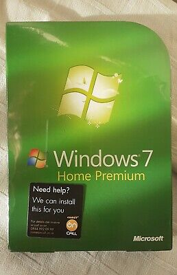 Microsoft Windows 7 Home Premium 32/64-BIT DVD GFC-00025 BRAND NEW SEALED. • 119.99£