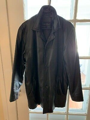 $29 • Buy Nicole Miller Black Leather Trench Coat Size M