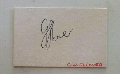 AU5.62 • Buy Grant Flower Cricket Signed In Person  Index Card Ashes Zimbabwe Andy