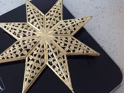 Christmas Tree Star Topper  / Ornament Gold • 4.25£