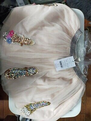 £20 • Buy Pale Pink Disco Sparkle Shoe Skirt By Monsoon Children 11-12yrs