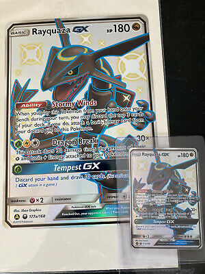 $ CDN144 • Buy Rayquaza GX 177a/168 Pokemon Cards Hidden Fates Promo Ultra Rare JUMBO+REGULAR