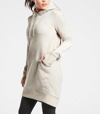 $ CDN78.77 • Buy ATHLETA BEIGE LONG SLEEVE TRIUMPH LUXE SHINE HOODIE SWEATSHIRT DRESS Sz XL