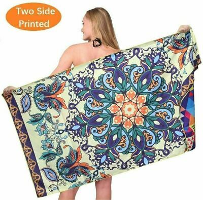 AU40.99 • Buy Sand Free Travel Beach Towel Blanket|Quick Fast Dry Super Absorbent Lightweight