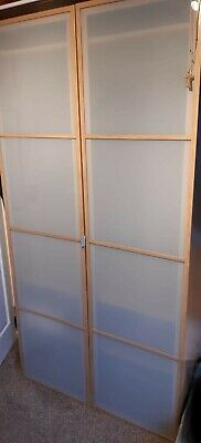 IKEA PAX Wardrobe With Frosted Glass Doors 100x60x201 • 100£