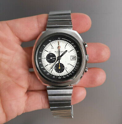 $ CDN2398.37 • Buy Vintage Bucherer 9801 Steel Chronograph With Omega Automatic Movement 1970's TOP
