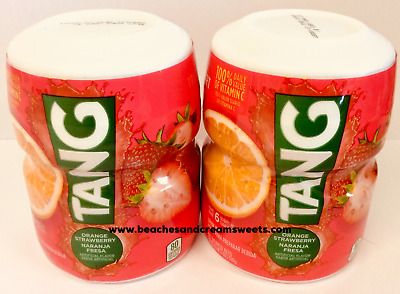 Two Tubs Of Tang Orange Strawberry Drink Mix 510g Like Kool Aid American Import • 12.50£