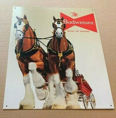 $ CDN17.07 • Buy Budweiser Bud Beer Clydesdale Team Vintage Retro Style Decor Metal Tin Sign