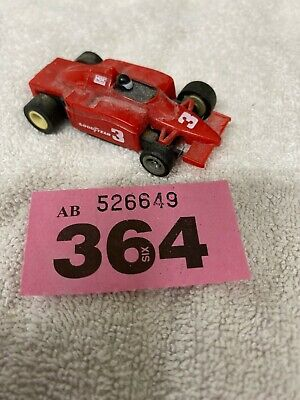 Scalextric Micro 1/64 Th Scale Red F1 Car No 3 Missing Parts Spares Or Repair. • 10£