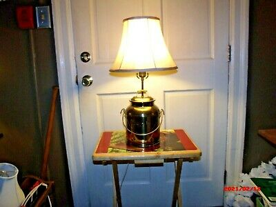 $49 • Buy Brass  (Plated) Reproduction Dairy Farm Milk Can Lamp