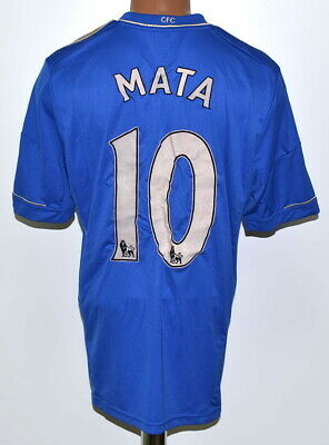 Chelsea 2012/2013 Home Football Shirt Jersey Adidas #10 Mata Size L Adult • 64.99£