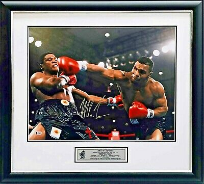 AU595 • Buy Mike Tyson Signed Boxing Glove Framed Beckett BAS USA Authenticated Photo Proof