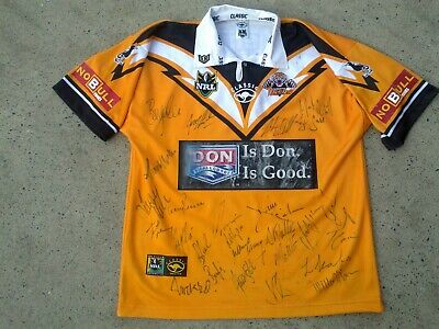 AU164 • Buy SIGNED 2001 Wests Tigers NRL Rugby League Jersey