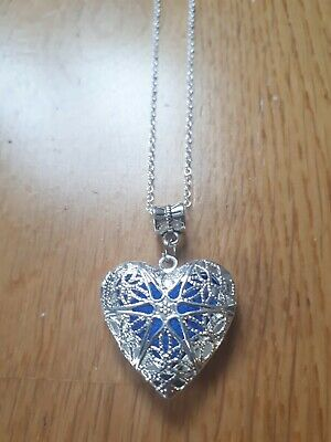 £4.95 • Buy Aromatherapy Pendant Necklace Diffuser Perfume Filigree Heart Love Gift Silver