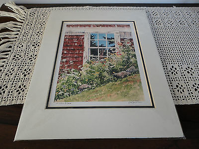 Canadian BC Artist Joe Smith Window & Lace Print W Template 8x10 Inch • 107.29£