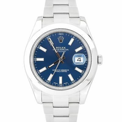 $ CDN10159.64 • Buy MINT 2017 Rolex DateJust II Blue Smooth Stainless Steel 41mm Oyster Watch 116300