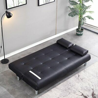 AU259 • Buy 3 Seater Lounge Sofa Bed 2 In 1 Futon Couch PU Leather Beds Recliner
