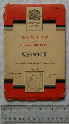 1954 OS Seventh Series 1  Map Sheet 82 Keswick • 2.50£