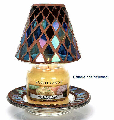 £12.99 • Buy Official Yankee Candle Autumn Mosaic Small Shade & Tray Set