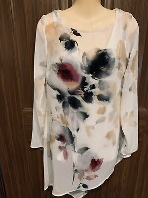$ CDN15.86 • Buy White House Black Market Flowing Floral Top Blouse (2pc) Women's 2