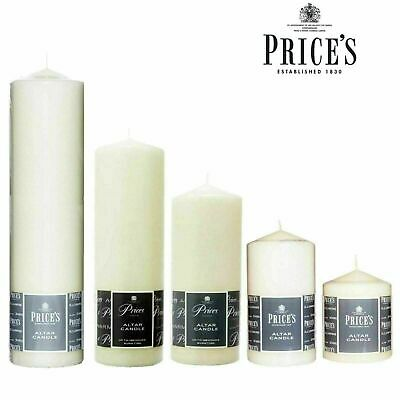 £7.99 • Buy Price's Church Altar Candle Pillar Large Round Table Candles Long Burn Time
