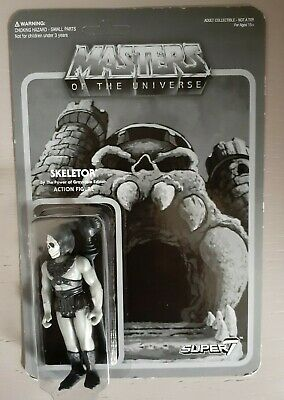 $60 • Buy 2015 Super7 MOTU Grayscale Skeletor Reaction Figure Masters Of The Universe New