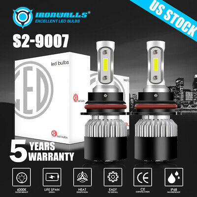 $14.99 • Buy 9007 HB5 LED Headlight Bulbs Conversion Kit High Low Beam 6000K Super White Pair